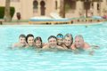 Family Relax In  Pool Stock Images - 55175994