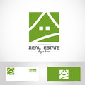 Simple Green House Real Estate Logo Stock Image - 55178021