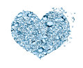 Water Drops Heart Royalty Free Stock Image - 55192436