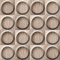 Wooden Rounded Abstract Blocks Stacked For Seamless Background Stock Images - 55201264