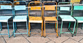 Metal Chairs Stock Image - 55202021