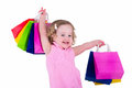 Little Girl With Shopping Bags Royalty Free Stock Photos - 55202378