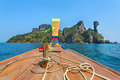 Longtail Boat Driving To The Chicken Island Stock Images - 55212374