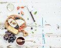 Cheese Appetizer Selection Or Wine Snack Set Royalty Free Stock Images - 55217609