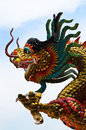 Chinese Dragon Stucco Royalty Free Stock Photos - 55232618