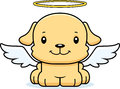 Cartoon Smiling Angel Puppy Royalty Free Stock Photography - 55236557