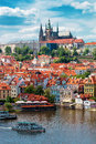 Prague Castle And Saint Vitus Cathedral Royalty Free Stock Photography - 55239907