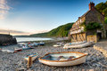 Clovelly Harbour Stock Images - 55241174