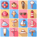 Cruise Icons Stock Images - 55242764
