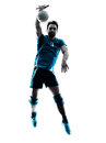 Man Volleyball  Jumping Silhouette Royalty Free Stock Photography - 55260177