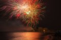 Firework Display Or Show During Victoria Day In Ashbridge S Bay, Toronto Stock Photo - 55270080