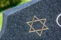 Jewish Cemetery: Star Of David On The Tombstone Stock Images - 55270264