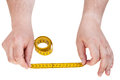 Male Hands With Tailor Measuring Tape Isolated Stock Photography - 55287422