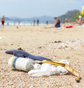 Garbage On A Beach, Nature Pollution Concept Picture. Stock Image - 55288541