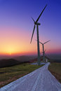 Wind Turbines In Oiz Eolic Park Stock Photography - 55292292