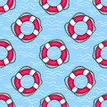 Seamless Pattern With Lifebuoys Royalty Free Stock Images - 55292689