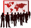 People And Map Stock Photography - 5536002