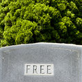 Gravestone With Word Stock Images - 5537544