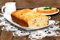 Banana Cake On A Plate Royalty Free Stock Image - 55315786