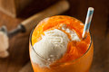 Orange Soda Creamsicle Ice Cream Float Stock Photos - 55317563