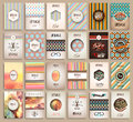 Vintage Styles Brochure Templates Set With Labels Royalty Free Stock Images - 55333989