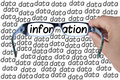 Big Data Information Glasses Looking For Isolated Stock Image - 55336081