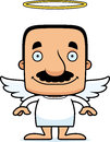 Cartoon Smiling Angel Man Royalty Free Stock Images - 55343289