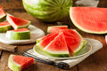 Organic Ripe Seedless Watermelon Royalty Free Stock Image - 55351596