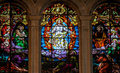 Jesus, Moses And Saint Paul - Stained Glass Stock Photography - 55352762