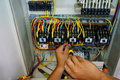 Contactor Wiring Work Royalty Free Stock Image - 55357576