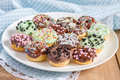 Fresh Baked Homemade Mini Donuts Royalty Free Stock Images - 55363349
