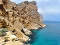 Blue Mediterranean Balearic Sea And Rocky Mountains Stock Image - 55366211