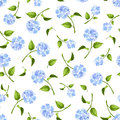 Seamless Pattern With Blue Hydrangea Flowers. Vector Illustration. Royalty Free Stock Image - 55367286