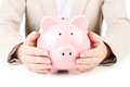 Pink Piggy Bank Royalty Free Stock Images - 55381319