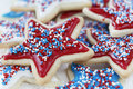 Sugar Cookies For 4th Of July Stock Photo - 55398790