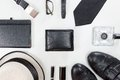 Men Accessories. Royalty Free Stock Images - 55401039