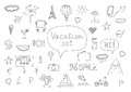 Holiday Icons Doodles Stock Photos - 55406143