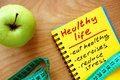 Notepad With Healthy Life Guide Royalty Free Stock Photo - 55413685