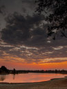 Sunset On The Luangwa River Stock Photos - 55415183