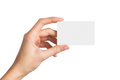 Hand Holding Blank Business Card Royalty Free Stock Photos - 55416018