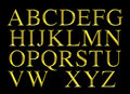 Golden Engraved Alphabet Lettering Set Royalty Free Stock Photography - 55418187