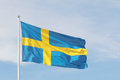Swedish Flag, Blue And A Yellow Cross Stock Images - 55425354