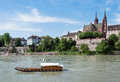 Rhine With Ferry Stock Photography - 55426122