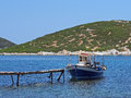 Small Wooden Fishing Boat, Skyros, Greece Royalty Free Stock Photo - 55426795