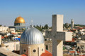 Islam And Christianity In Jerusalem. Royalty Free Stock Image - 55428146