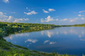 Calm Beautiful Rural Landscape With A Lake Stock Image - 55434891