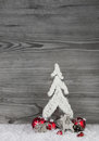 Christmas Background In White, Grey And Red With Tree, Reindeer Stock Photography - 55435132