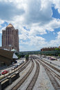 Norfolk And Southern Railyard Royalty Free Stock Images - 55443689