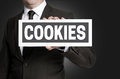 Cookies Plate Is Held By Businessman Stock Photo - 55461250