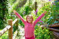 Kid Girl In Spring Track In Cuenca Forest Of Spain Royalty Free Stock Photos - 55489328
